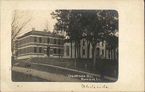 Courthouse Hill Morrison, Illinois Original Vintage Postcard