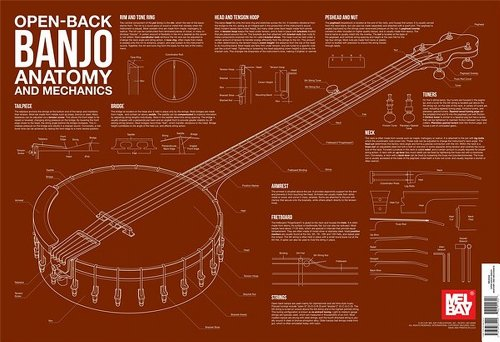(Open-Back Banjo Anatomy and Mechanics (Anatomy Wall Chart))
