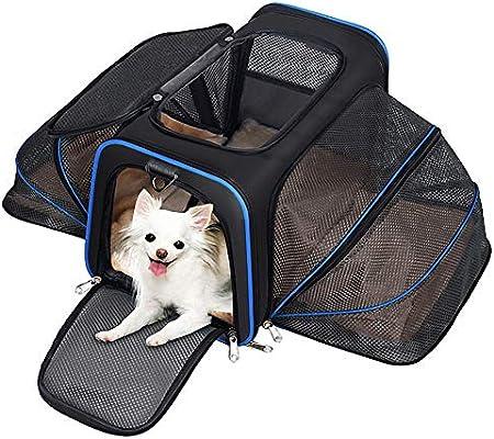 YOUTHINK Transportín Plegable para Perros, Portador de Viaje para ...