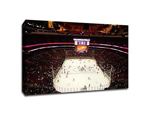 (Philadelphia - Wells Fargo Center - Hockey Arenas - 22x30 Gallery Wrapped Canvas Wall Art)