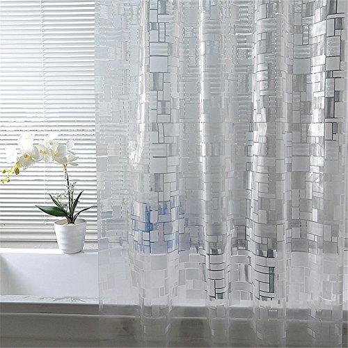 Luxiu Home Simple Waterproof Mildew Resistant PEVA Semi Transparent Shower Curtain 59 X 78 Inch