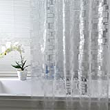 70 x 78 shower curtain - Luxiu Home Simple Waterproof Mildew Resistant PEVA Semi-transparent Shower Curtain 70 x 78 inch approx