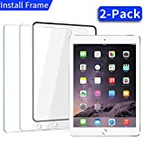 [2 Pack] iPad 9.7 in (2018/2017) / iPad Air 2 / iPad Pro 9.7 in/iPad Air Screen Protector,[Easy Installation Frame],Ainope iPad 6th Generation Tempered Glass Screen Protector,Apple Pencil Compatible