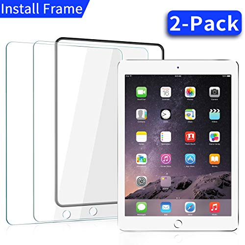 Review [2 Pack] iPad 9.7 in (2018/2017) / iPad Air 2 / iPad Pro 9.7 in/iPad Air Screen Protector,[Ea...
