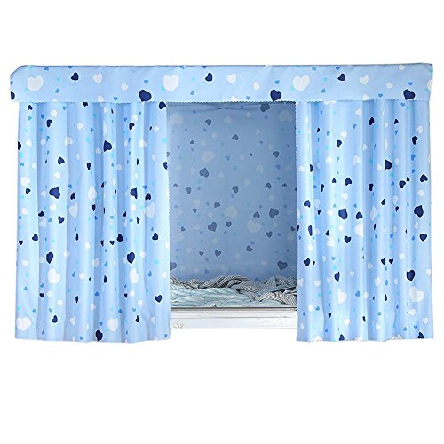 FANCY PUMPKIN Simple Dormitory Bunk Bed Curtains Dustproof Bedroom Curtains Shading Cloth, C-18
