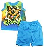 Scooby-Doo Little Boys Tank Top 2Pc Mesh Shorts Set, 2T Blue