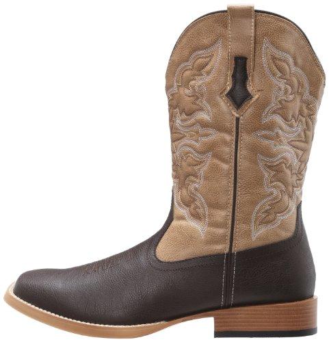 Roper Men's Square Toe Cowboy Boot Brown 10.5 D - Medium