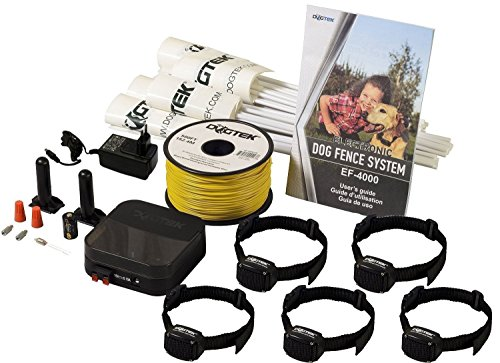 Electric Dog Fence - DOGTEK Underground Pet Containment System - 5 Dog Kit - 1500' Perimeter Wire by Dogtek