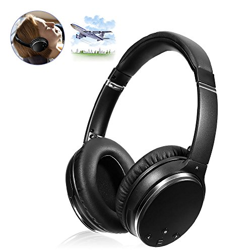 Active Noise Canceling Bluetooth Headphones, HiFi Stereo Wireless Over-ear Earphones Wireless Over-ear Stereo Headphone with Mic, Foldable Travel Headphones/Over-Ear Headphones