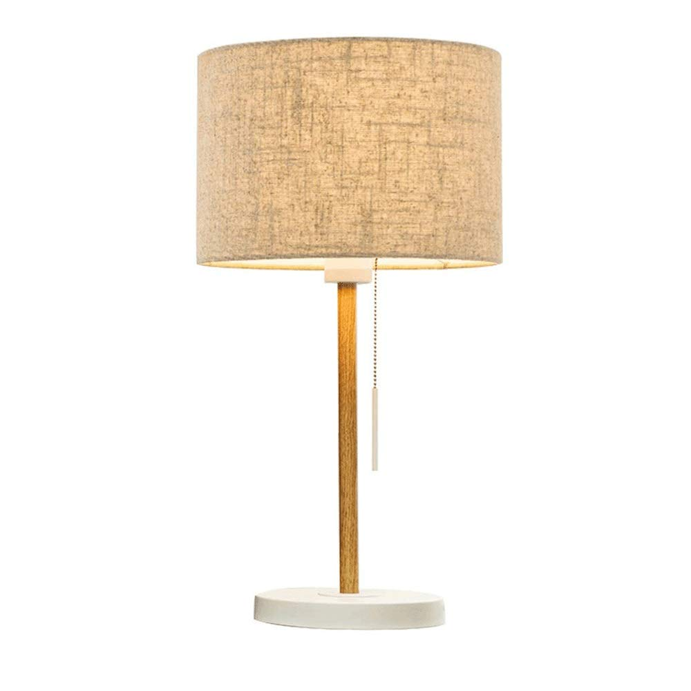 BeiMi Table Lamp, Pull-Out Bedside Lamp - Modern Bed Counter Lamp - Fabric Lampshade Metal Lamp Body - Living Room - Study - Bedroom, Living Room - Bookcase (5528cm)