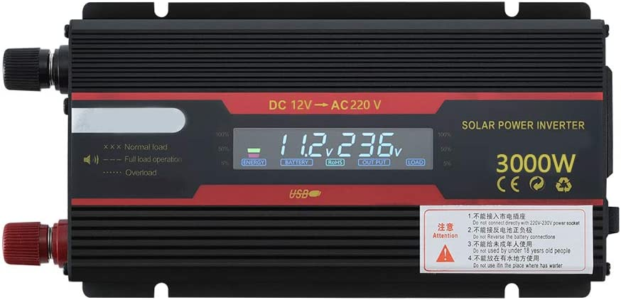 Inversor inteligente de energ/ía solar Convertidor de onda sinusoidal modificada con pantalla LCD