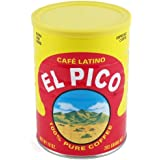 El Pico Cafe Latino Extra Fine Ground Espresso Coffee Cans 10 Ounce, Pack of 4