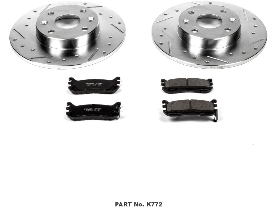 Power Stop K793 Front Z23 Evolution Brake Kit with Drilled//Slotted Rotors and Ceramic Brake Pads