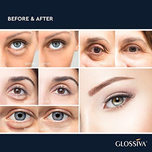 51LdjayDvIL - Glossiva Eye Gel, Hyaluronic acid for Wrinkles, Fine Lines, Dark Circles, Puffiness, Under Eye Bags - Hydrating, Firming, Rejuvenates Skin - Advanced Repair Formula 1.7 Fl Oz