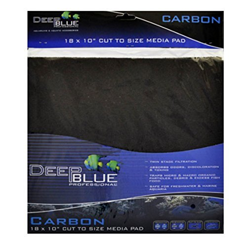 Activated Carbon Pad Cut-to-fit Filter Media 18 X 10 Fresh/saltwater Deep Blue