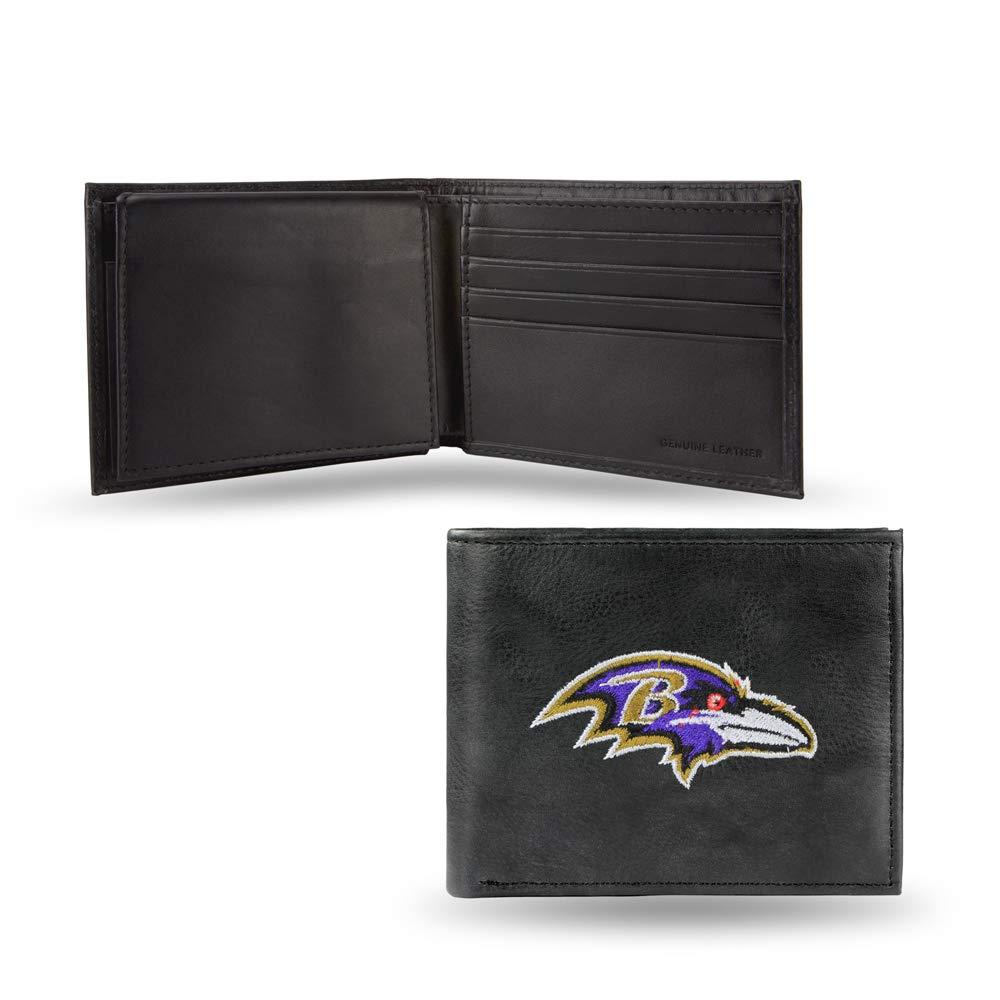 NFL Baltimore Ravens Embroidered Leather Billfold Wallet