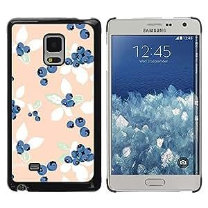 """Pulsar Snap-on Series Teléfono Carcasa Funda Case Caso para Samsung Galaxy Mega 5.8 , Peach azul Vignette Wallpaper"""""""