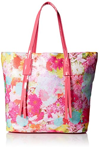 Accessories 22 Girls' Sequin Tote, Photo Real Floral