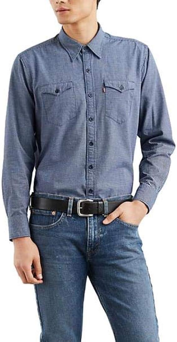 Levis - Camisa Levis Modern Barstow Western - Indigo, S: Amazon.es: Ropa y accesorios