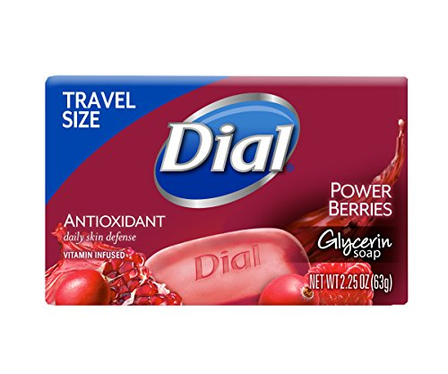 Dial Glycerin Bar Soap, Power Berries, 2.25 Ounce Bars, 1 Count (Pack of - 36ct Bars