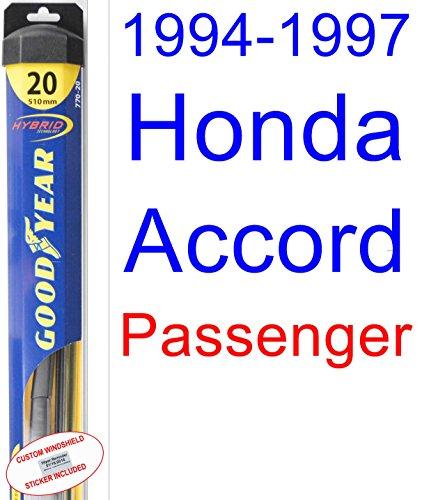 1994-1997 Honda Accord Wiper Blade (Passenger) (Goodyear Wiper Blades-Hybrid) (1995,1996) free shipping