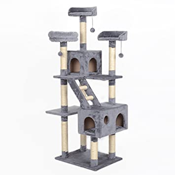 Estante para Gatos de múltiples Capas Gato Escalada Cat Cat Cat Scratching Suministros con Gato de jerarquía Escalada árbol de Gato (Color : Gray): ...