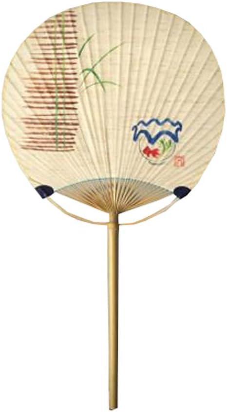 Gifts Decor E Elegante abanico de mano de bamb/ú estilo japon/és redondo para mujeres