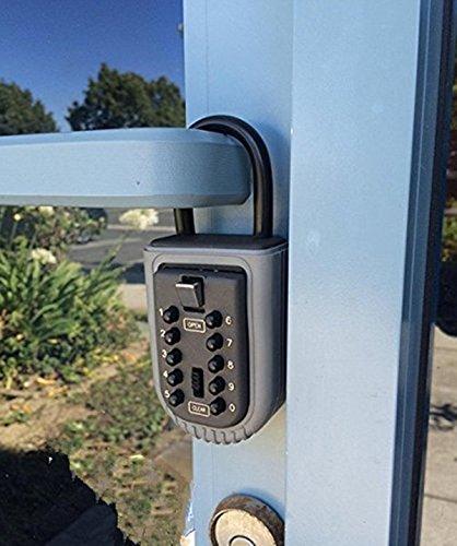 Key safe lock box Ksun Portable push-button combination lock exterior outdoor waterproof hide Padlock Box Secure Box Keys Holder combination for Home/House use Key Storage Lock Box by Ksun (Image #6)