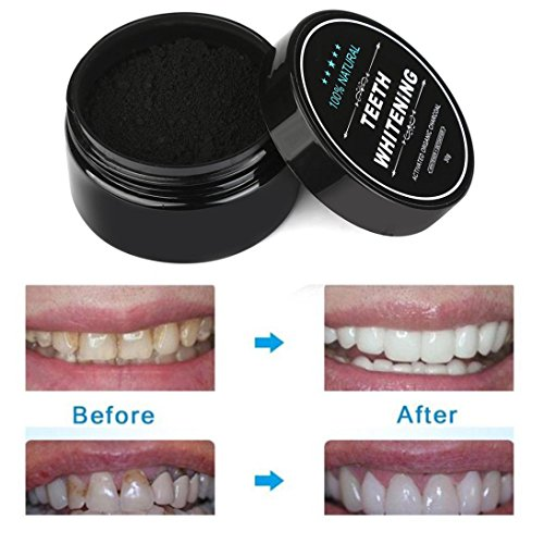 Price comparison product image Creazy Teeth Whitening Powder Natural Organic Activated Charcoal Bamboo Toothpaste