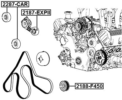 1 Year Warranty PULLEY IDLER 6L3Z-6C348-A FEBEST # 2188-F450