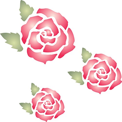 Rose Mural Stencil - (size 7