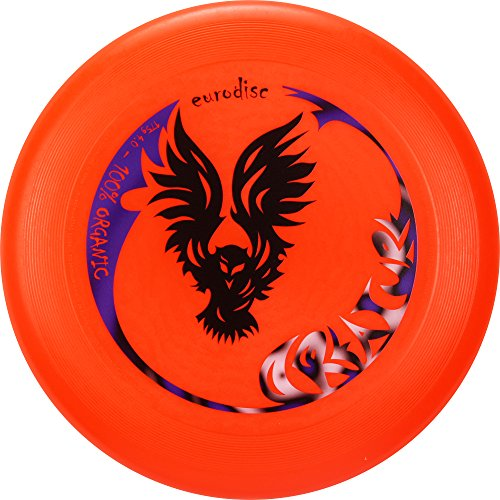 Eurodisc 175g not Discraft Ultimate Frisbee Competition Disc design CREATURE ORANGE by New Games - Frisbeesport