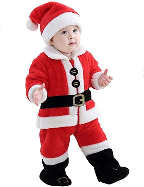 mit Buchstaben Rundhalsausschnitt 3-teiliges Weihnachtskleid f/ür Babys M/ädchen Weihnachtskleidung Party. Freizeit karierter Rock und Haarband f/ür Neugeborene