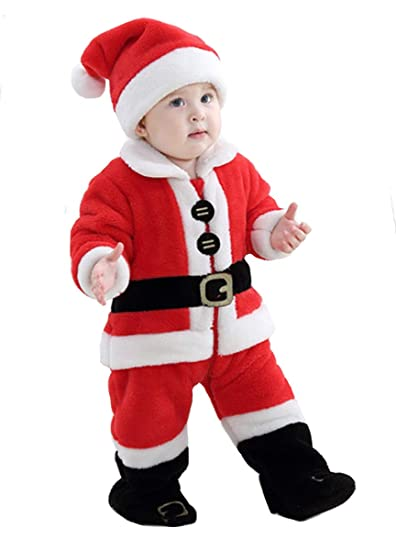 Tonwhar Disfraz De Papá Noel Para Niños Y Niñas Amazon