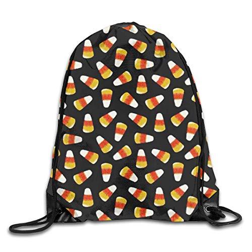 HBbaodingbdf Halloween Candy Corn Men & Women Fashion Backpacks Shoulder Bag Laptop Backpack,Sport Gym Sackpack Drawstring Backpack Bag - -