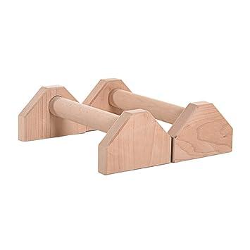 LeKing 2 Pcs Bois Parallettes Push Up Barre Callisthenics Handstand Unique  Double Poignées Yoga Fitness Exercice 3fab5c6de8d