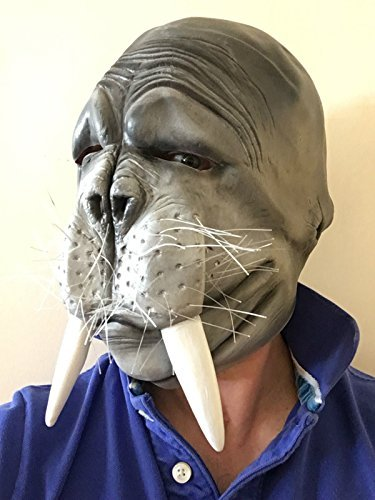 Rubber Johnnies Walrus Mask, Seal , Sea-Lion , Fishermans , Adult One Size