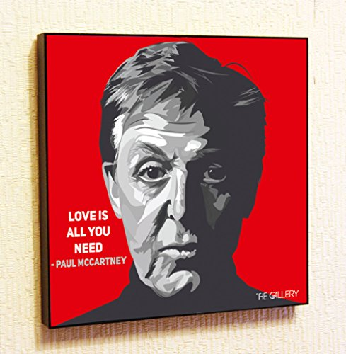 Paul McCartney The Beatles Singer Music Artist Actor Decor Motivational Quotes Wall Decals Pop Art Gifts Portrait Framed Famous Paintings on Acrylic Canvas Poster Prints (10x10