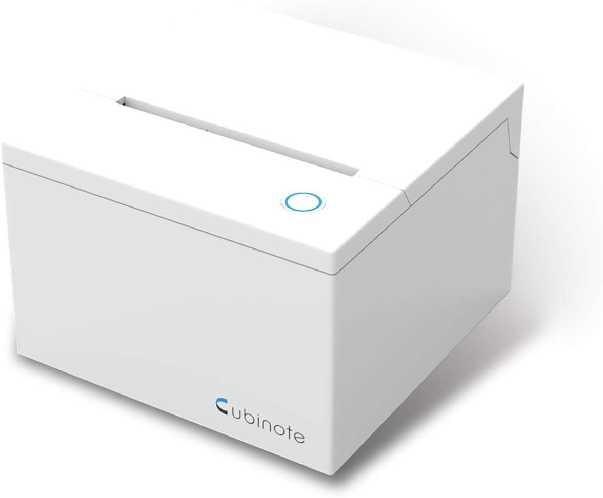 Cubinote KCNH18009 Haftnotizdrucker gr/ün inklusive einer Thermohaftnotizpapierrolle mit UK Adapter