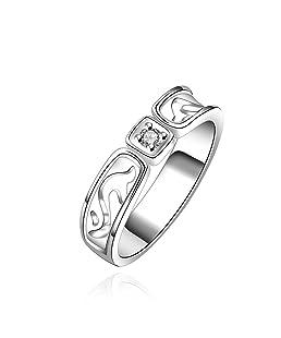 Anillo de boda de compromiso, anillo de diamante, anillo de moda, elegante anillo de mujer, anillo romántico para regalo de mujer y hombre