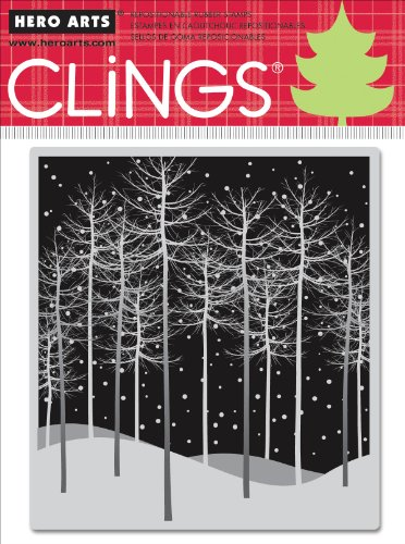 Hero Arts Rubber Stamps Winter Trees Cling Stamp ()