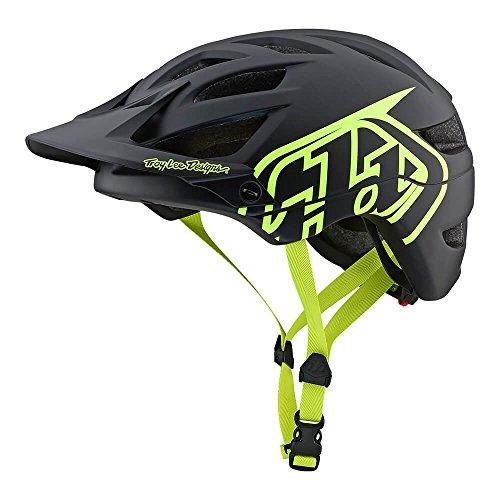 - Troy Lee Designs Adult | Trail | Enduro | Half Shell A1 Drone Mountain Biking Helmet (Medium/Large, Black/Flo Yellow)