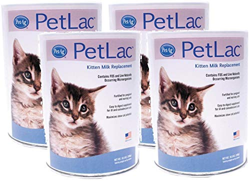 Pet Ag 4 Pack of PetLac Milk Powder for Kittens, 10.5-Ounce Each ()