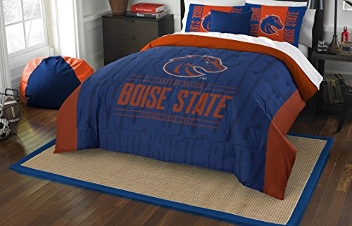 The Northwest Company Officially Licensed NCAA Boise State Broncos Modern Take Full/Queen Comforter and 2 Sham Set