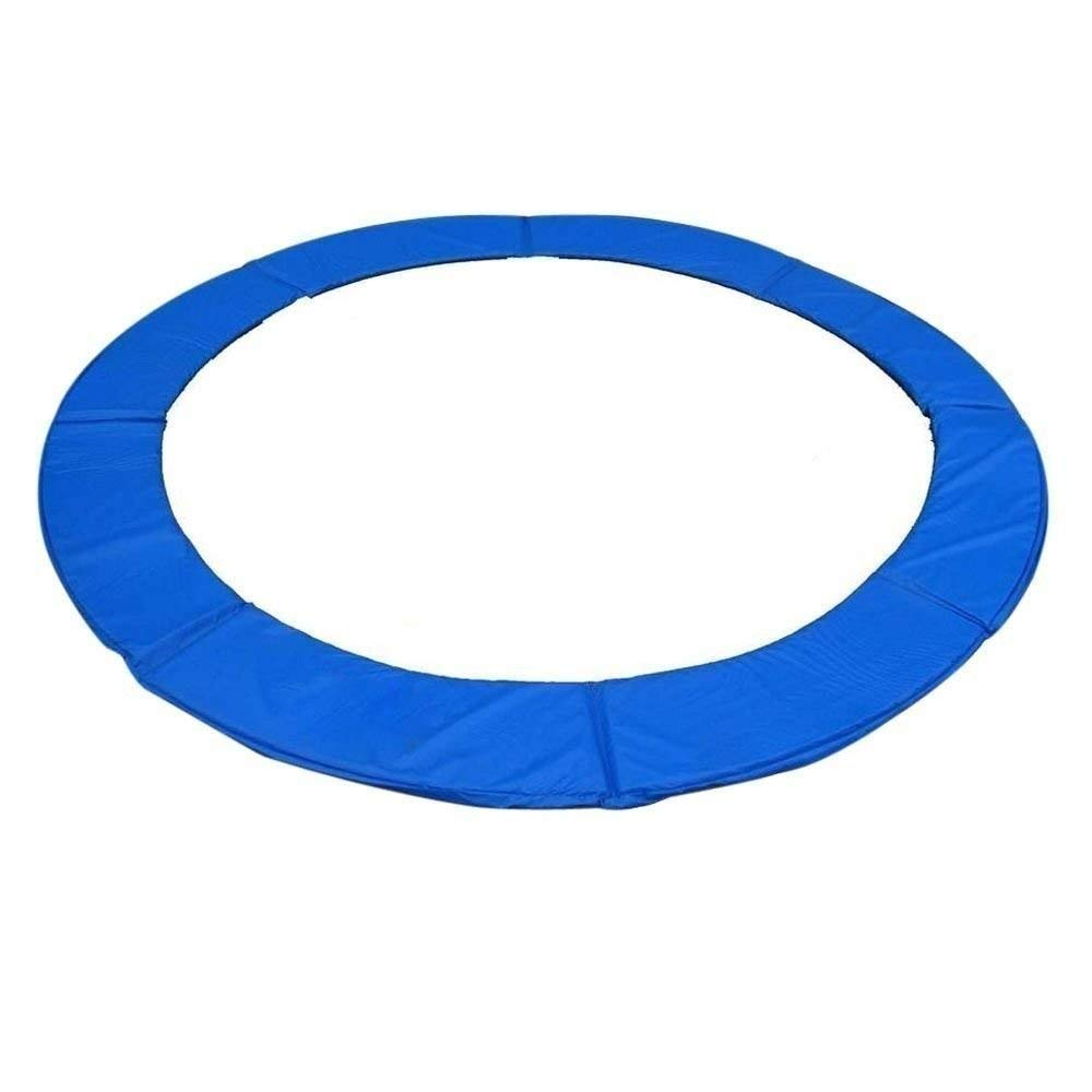 Exacme Trampoline Replacement Safety Spring Cover Round Frame Pad without Holes (Blue, 13 Foot)