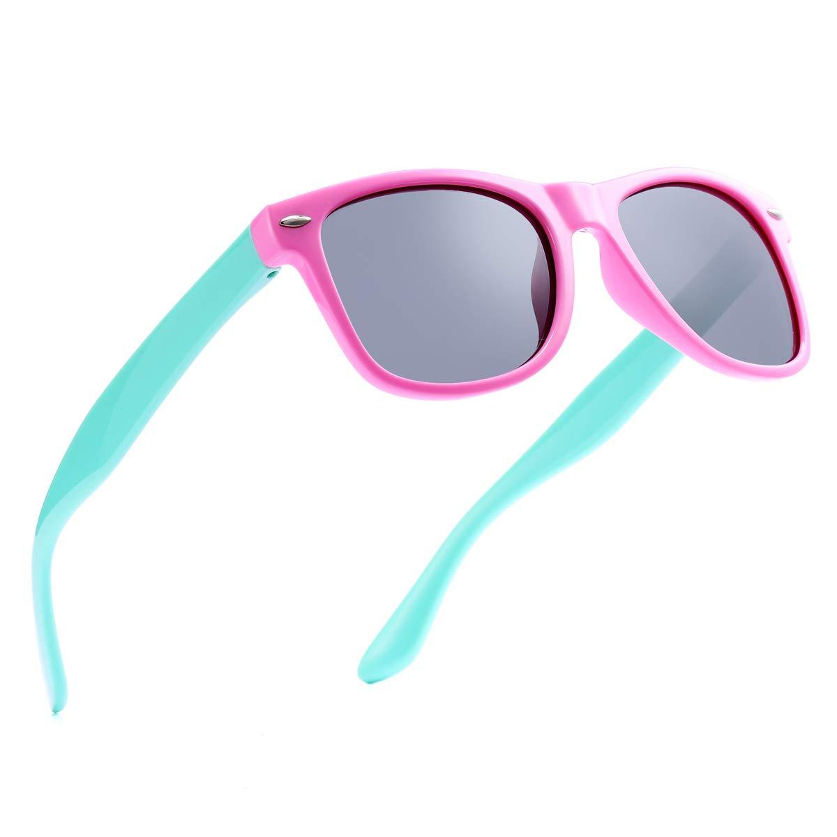 Pro Acme TPEE Rubber Flexible Polarized Sunglasses (Pink Frame/Black Lens/54) by Pro Acme