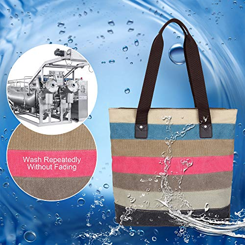 Vcun8051 Shopping Vintage Colored Ladies Women's Hobo Handbag Tote Large Canvas Bag Shoulder Bags Satchel mpk Multicolour XqX6C8