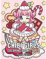 Chibi Girls Coloring Book Vol 3: For Kids Gorgeous Cute Anime Girls Set In Fun Fantasy Manga Scenes