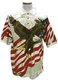 American Summer Flag Patriotic Eagle Shirt,Large