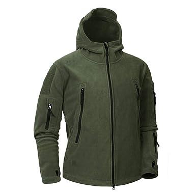 CFDS Chaqueta Hombre Otoño Invierno Militar Vellón Camuflaje Ropa Táctica  De Los Hombres Polar Warm Army Men Coat Outwear Hoodie cb243bb79037b
